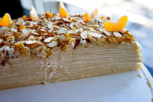 Half Crepe Cake