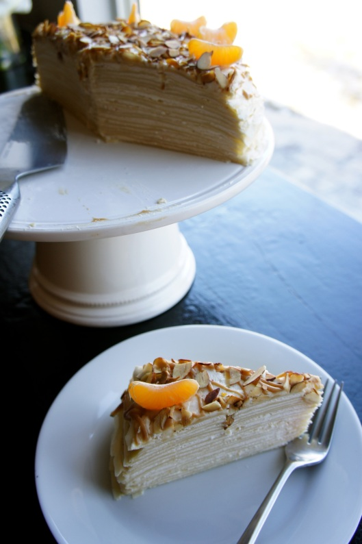 Crepe Cake and Slice